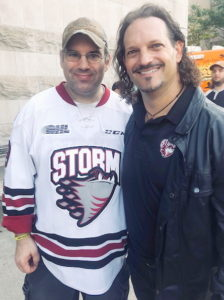 Don Sawchuk with Avid Storm Supporter